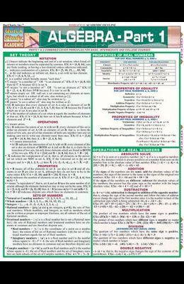 Algebra: Part 1 Laminate Reference Chart