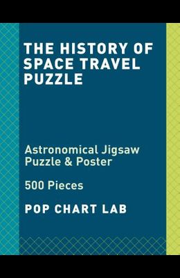 The History of Space Travel Puzzle: Astronomical 500-Piece Jigsaw Puzzle & Poster: Jigsaw Puzzles for Adults