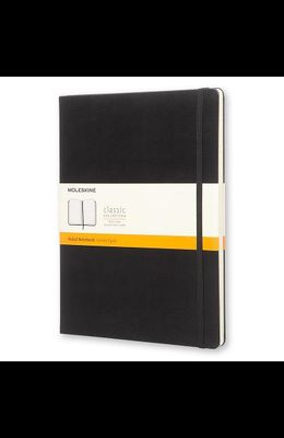 Moleskine Classic Notebook, Extra Large, Ruled, Black, Hard Cover (7.5 X 10)