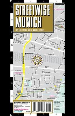 Streetwise Munich Map - Laminated City Center Street Map of Munich, Germany