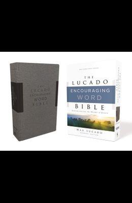 Niv, Lucado Encouraging Word Bible, Gray, Cloth Over Board, Comfort Print: Holy Bible, New International Version