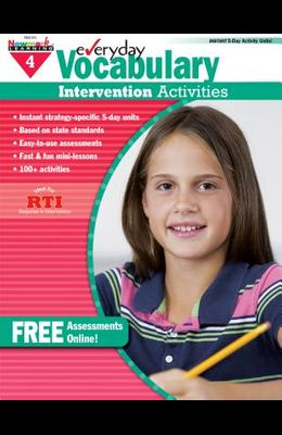 Everyday Vocabulary Intervention Activities for Grade 4 Teacher Resource