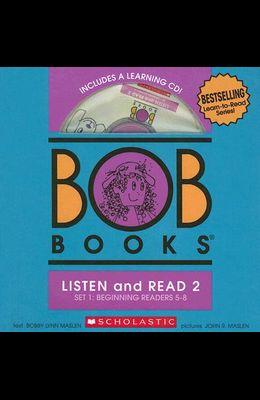 BOB Books Set 1 Bind-up: Books #5-8 + CD