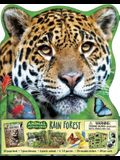 Animal Adventures: Rain Forest [With Book(s) and 20 Fact Cards and 9-Piece Diorama, 6 Plastic Animals, 5 3-D Models]