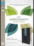NIV, LifeConnect Study Bible, Imitation Leather, Gray/Blue, Indexed, Red Letter Edition: Growing Deeper, Growing Stronger in Your Spiritual Life