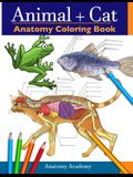 Animal & Cat Anatomy Coloring Book: 2-in-1 Compilation Incredibly Detailed Self-Test Veterinary & Feline Anatomy Color workbook