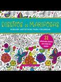 Diseno de Mariposas. Cuaderno Para Colorear