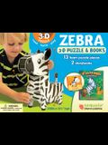 Zebra: Wildlife 3D Puzzle and Books [With Book(s)]