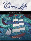 Ocean Life: Adult Coloring Book