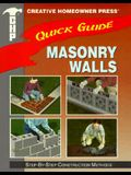 Quick Guide: Masonry Walls: Step-By-Step Construction Methods