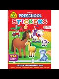 Preschool Stickers Workbook