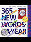 365 New Words-A-Year Page-A-Day Calendar 2021