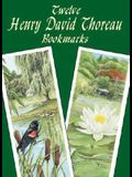 Twelve Henry David Thoreau Bookmarks