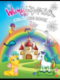 Whimsical World Coloring Book: Unicorns, Dinosaurs, Mermaids, Dragons, Fairies, Spaceships, and More!