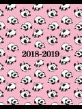 2018-2019 Studentenplaner - Schülerkalender - Studentenkalender: August 2018 - Juli 2019: 19 x 23 cm: Pandabär 4206