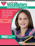 Everyday Vocabulary Intervention Activities for Grade 4 Teacher Resource
