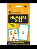Numbers 0-25 Flash Cards: 54 Flash Cards