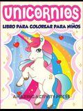 Unicornios Libro Para Colorear Para Niños Edades 4-8: Más de 40 divertidas y hermosas ilustraciones de unicornios que crean horas de diversión (Ideas