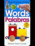 Words/Palabras: Sticker Flash Cards [With 60 Stickers]