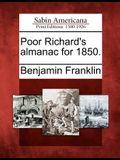 Poor Richard's Almanac for 1850.