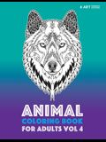Animal Coloring Book For Adults Vol 4