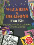 Wizards & Dragons Fun Kit: Stickers, Stencils, Coloring, Tattoos & More! [With 2 Coloring Books and Stickers and 11x17 Glow-In-The-Dark Poster and 6 C