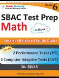 SBAC Test Prep: 6th Grade Math Common Core Practice Book and Full-length Online Assessments: Smarter Balanced Study Guide With Perform