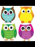 Colorful Owls Mini Cut-Outs
