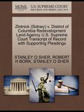 Zlotnick (Sidney) V. District of Columbia Redevelopment Land Agency U.S. Supreme Court Transcript of Record with Supporting Pleadings