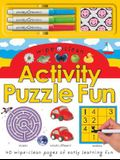 Wipe Clean Activity Puzzle Fun [With 3 Colored Pens & Wipe Cloth]