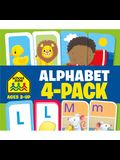 Alphabet Flash Card 4-Pack