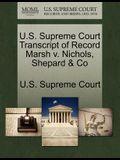 U.S. Supreme Court Transcript of Record Marsh V. Nichols, Shepard & Co