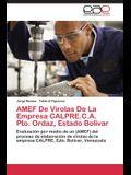 Amef de Virolas de La Empresa Calpre.C.A. Pto. Ordaz, Estado Bolivar