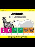 Animals Language Memory Cards