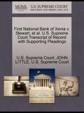 First National Bank of Xenia V. Stewart, et al. U.S. Supreme Court Transcript of Record with Supporting Pleadings