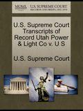 U.S. Supreme Court Transcripts of Record Utah Power & Light Co V. U S