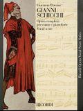 Gianni Schicchi: Opera Vocal Score
