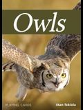 Owls Playing Cards
