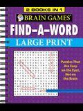 Brain Games - 2 Books in 1 - Find-A-Word