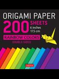 Origami Paper 200 Sheets Rainbow Colors 6 (15 CM): Tuttle Origami Paper: High-Quality Double Sided Origami Sheets Printed with 12 Different Designs (I