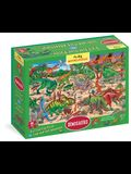 My Big Wimmelpuzzle Dinosaurs Floor Puzzle, 48-Piece