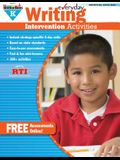 Everyday Writing Intervention Activities Grade K Book Teacher Resource