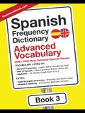 Spanish Frequency Dictionary - Advanced Vocabulary: 5001-7500 Most Common Spanish Words