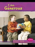 Library Book: I Am Generous (Character Values)