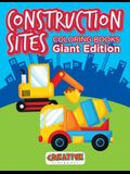 Construction Sites Coloring Books Giant Edition