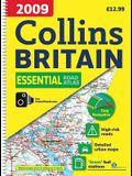 2009 Collins Essential Road Atlas Britain: A4 Edition