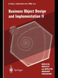 Business Object Design and Implementation II: Oopsla'96, Oopsla'97 and Oopsla'98 Workshop Proceedings