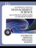 An Introduction to Management Science: A Quantitative Approach to Decision Making [With CDROM]