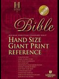 Holman CSB Hand Size Giant Print Bible, British Tan Duo Grain Bonded Leather Indexed