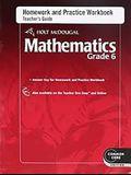 Holt McDougal Mathematics: Homework and Practice Workbook Teacher's Guide Grade 6